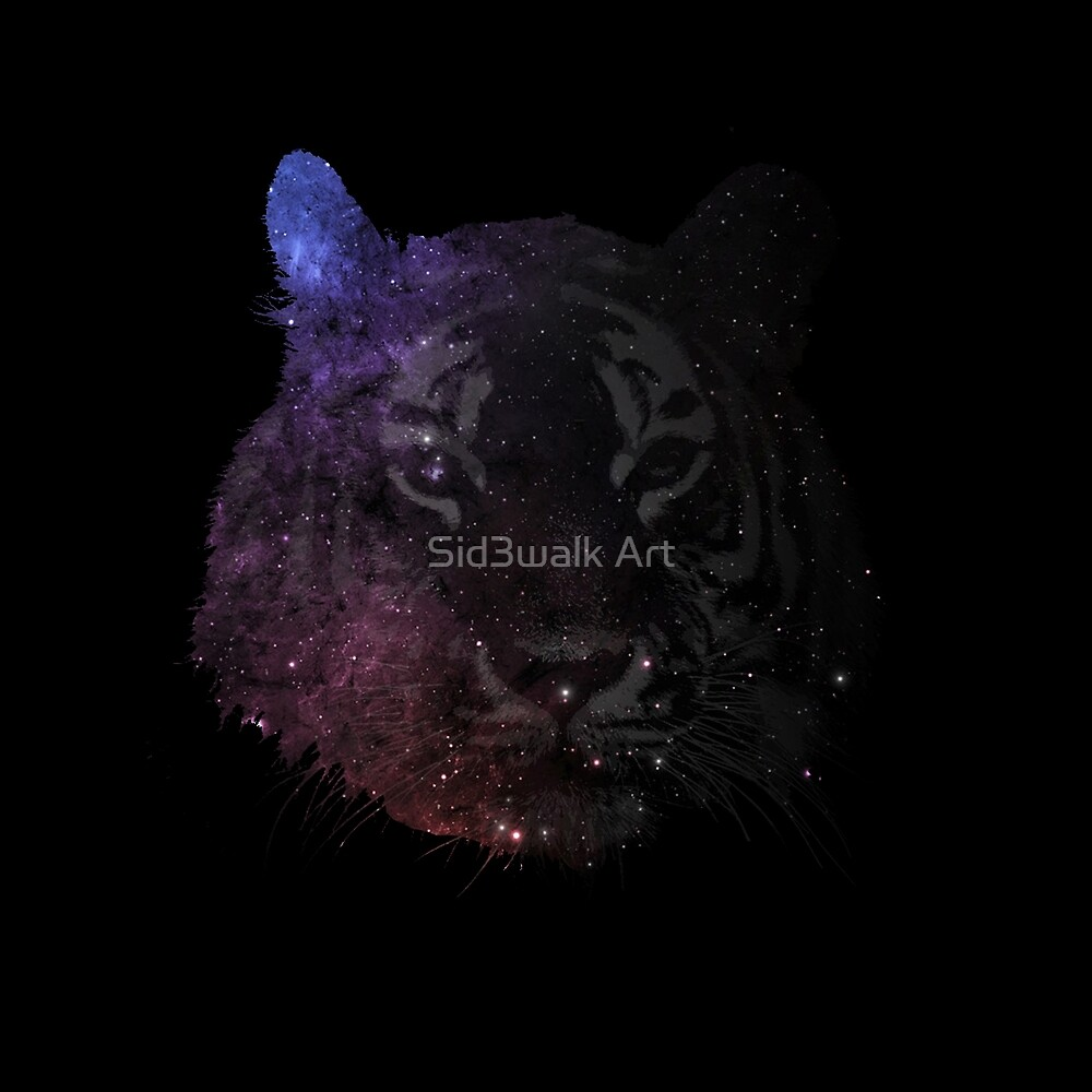 Space Tiger Cool Pretty Hipster Universe by Sid3walk Art