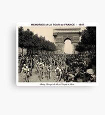 TOUR DE FRANCE: Vintage Arc de Triomphe Canvas Print