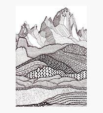 Patterns on Patagonia Photographic Print