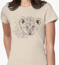 Baby Lion Cub | African Wildlife Womens Fitted T-Shirt