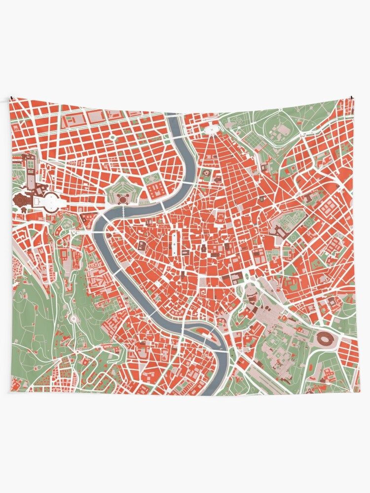 Rome city map classic | Tapestry