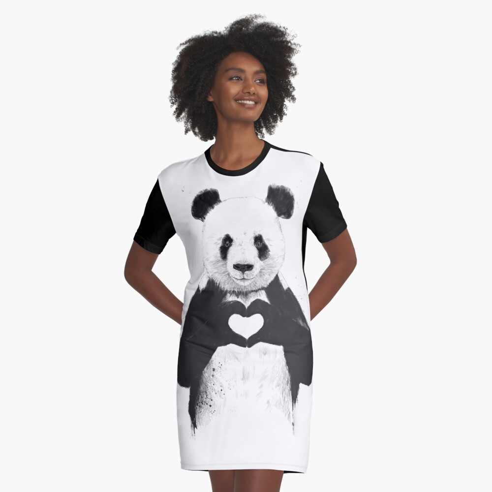 All you need is love Graphic T-Shirt Dress