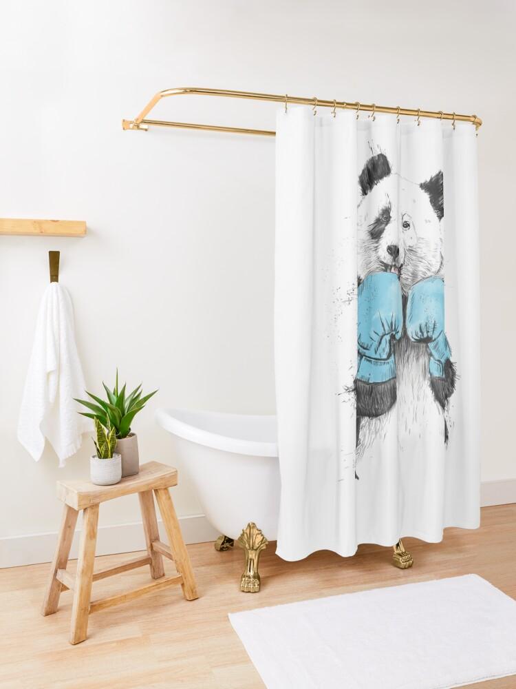 Alternate view of the winner Shower Curtain