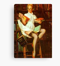 Gil Elvgren Pin Up Librarian Canvas Print