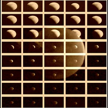 Lunar eclipse phases sepia by carpenter777