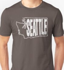 Seattle (White Graphic) Unisex T-Shirt