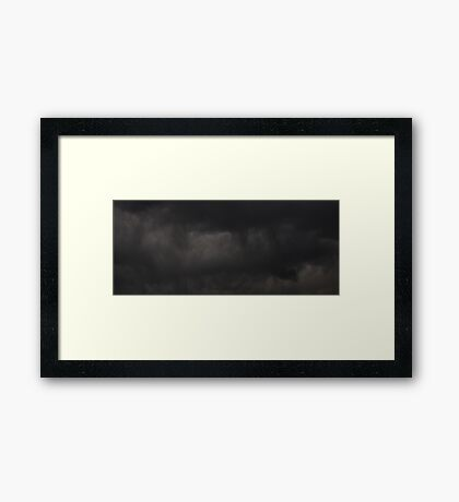 0802 - HDR Panorama - Brooding Sky Framed Print