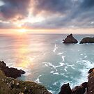 Sunset Kynance Cove by igotmeacanon