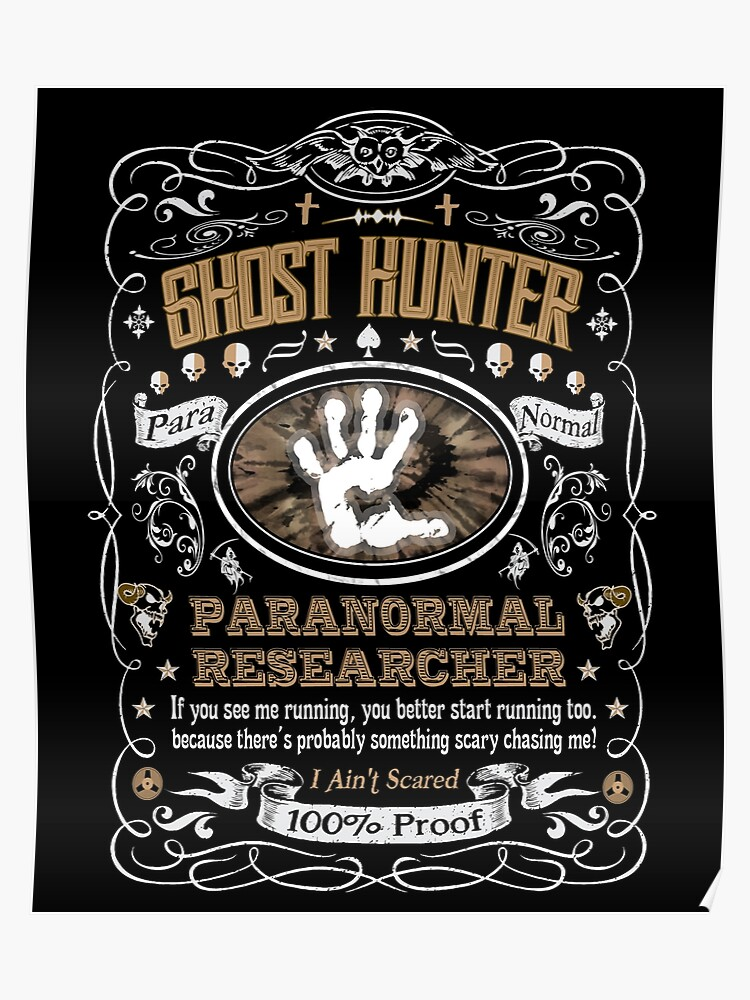 Ghost Hunter Paranormal Researcher Label   Poster