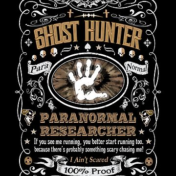 Ghost Hunter Paranormal Researcher Label by gallerytees