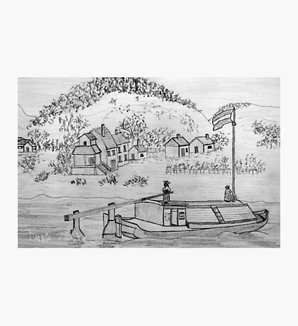 My pencil drawing of An Ancient Scene on the Danube Photographic Print