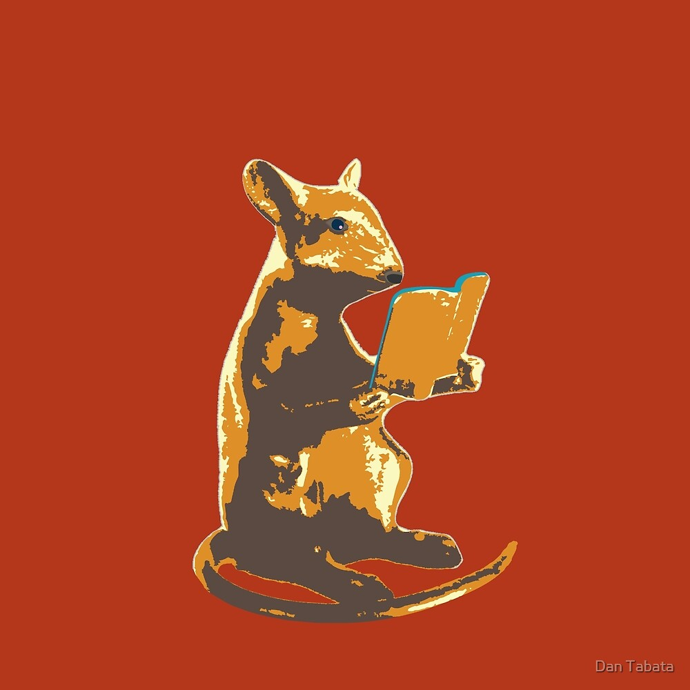 Book Mouse - gold by Dan Tabata