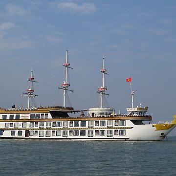 Boat in Ha Long Bay, Vietnam by shawnzahavi