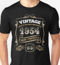 63rd Birthday Gift Gold Vintage 1954 Aged Perfectly T-Shirt