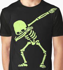Dabbing Skeleton Shirt Dab Hip Hop Skull Dabbin Glow Effect Graphic T-Shirt