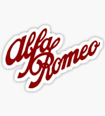Alfa Romeo classic (red) Sticker