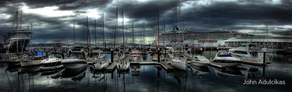 Hobart in ships by John Adulcikas