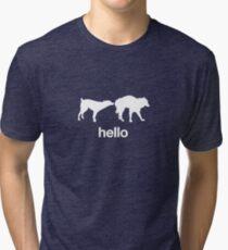 Hello - Dog First Impressions (White) Tri-blend T-Shirt