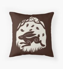 Leaping Hare in Autumn Throw Pillow