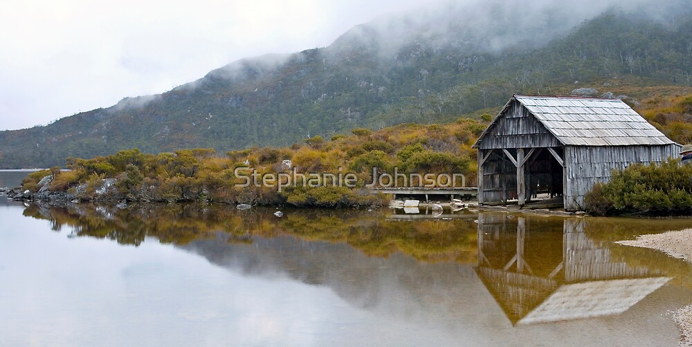 Boat house - Cradle Mountain by Stephanie Johnson
