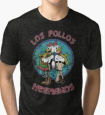 los pollos hermanos old Retro Distressed breaking Saul food Tri-blend T-Shirt