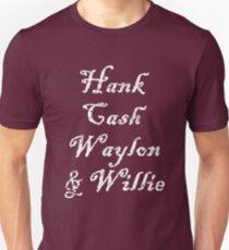 Hank Cash Waylon & Willie Cool Country Music Legends Unisex T-Shirt