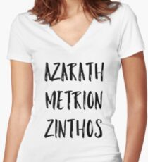 Azarath Metrion Zinthos (Alternate) Women's Fitted V-Neck T-Shirt