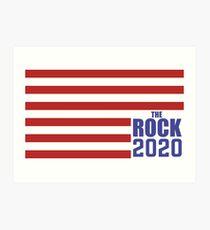 The Rock for President 2020 Art Print