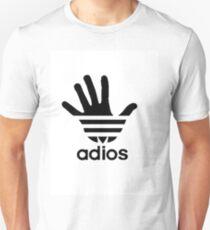 Adios Adidas Logo parody Unisex T-Shirt
