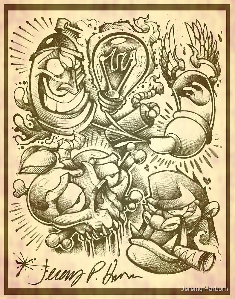 tattoo flash by Jeremy Harburn