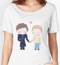 Johnlock - holding hands Women's Relaxed Fit T-Shirt