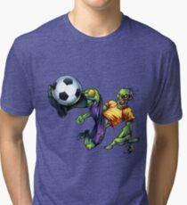 Zombie Soccer Ball Kick Tri-blend T-Shirt