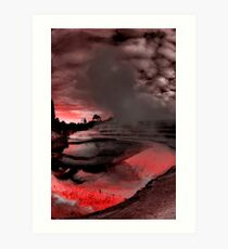 Pink Terraces Art Print