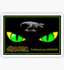JURASSIC MESOZOIC: Age of Dinosaurs Abstract Print Sticker