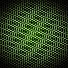 Honeycomb Background Green by Henrik Lehnerer