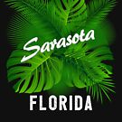 SARASOTA FLORIDA BEACH TROPICAL PALMS HIBISCUS OCEAN VACATION by MyHandmadeSigns
