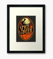 Spice Beer Label Framed Print