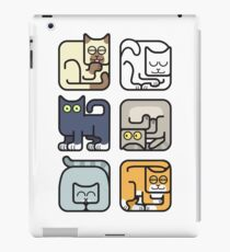 Cute Cat Icon Pattern iPad Case/Skin
