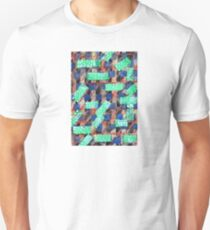 Dotted Green Rectangles on Top Pattern  Unisex T-Shirt