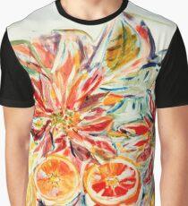 Weihnachtsstern mit Orangen Graphic T-Shirt