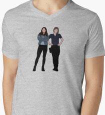 Sanvers | Alex & Maggie Mens V-Neck T-Shirt