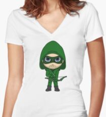 Cute Archer Women's Fitted V-Neck T-Shirt
