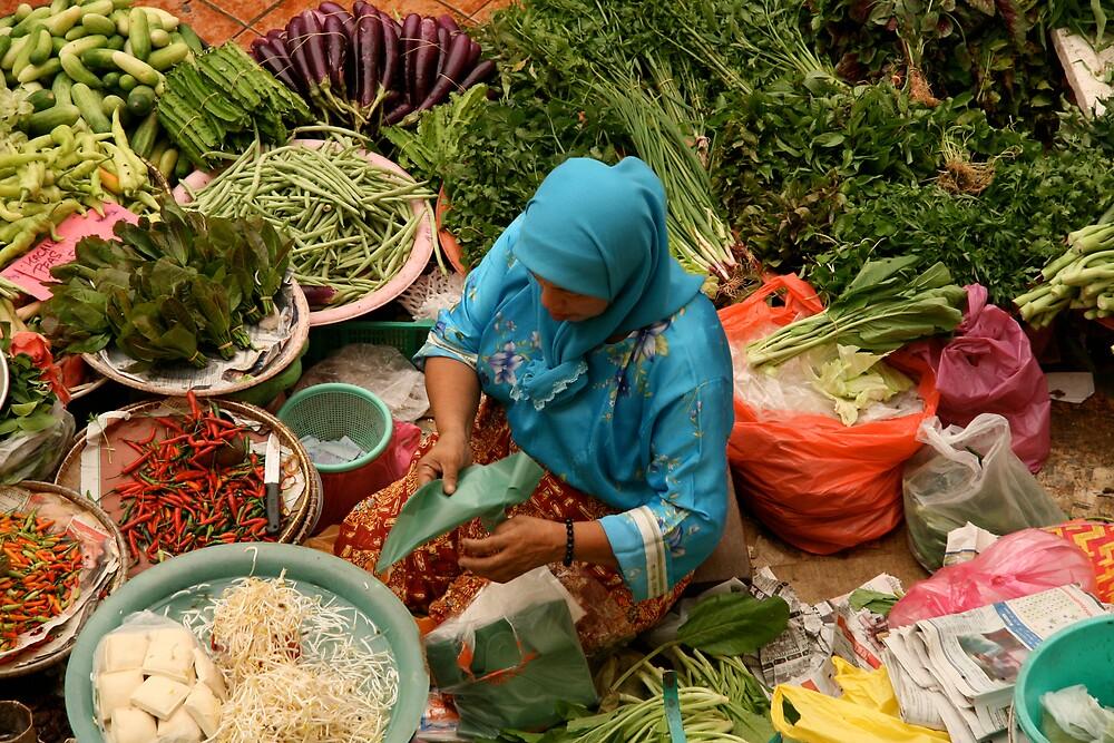 Market, Kota Bahru, Malaysia by Gary Collier