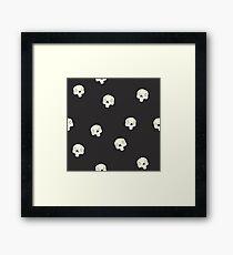 Cute Sugar Skull Black Framed Print