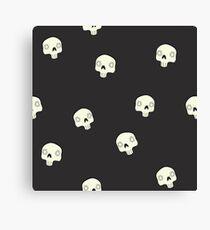 Cute Sugar Skull Black Canvas Print