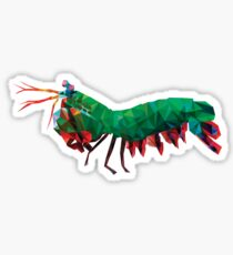 Geometric Abstract Peacock Mantis Shrimp Sticker