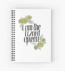 Cuaderno de espiral Yo soy la reina de los lagartos