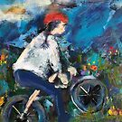 A Girl and Her Bike by Vickie  Scarlett-Fisher