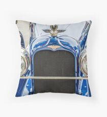 Duesenberg Straight 8 Grill and Headlights Throw Pillow