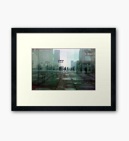 Paris Glass Framed Print